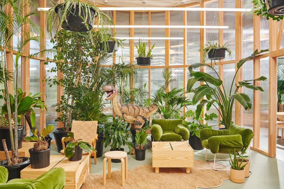 Plant filled collaborative space