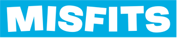Logo of Misfits, makers of innovative protein products using only natural ingredients, including protein bars and protein powders.