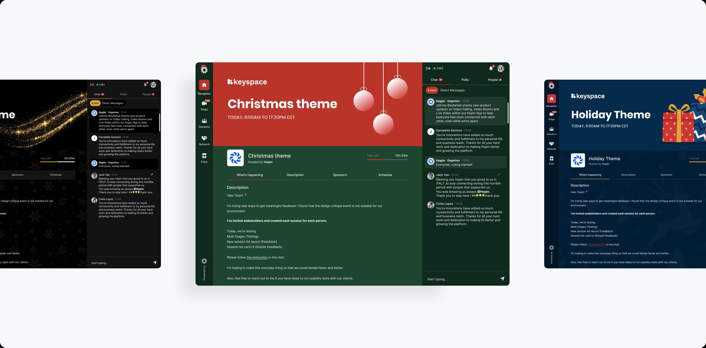 Hopin festive holiday branding