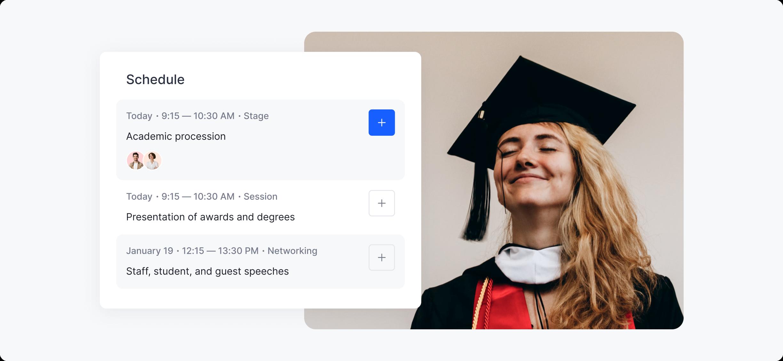 virtual graduation ceremony schedule