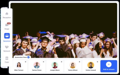 virtual graduation award ceremony on hopin