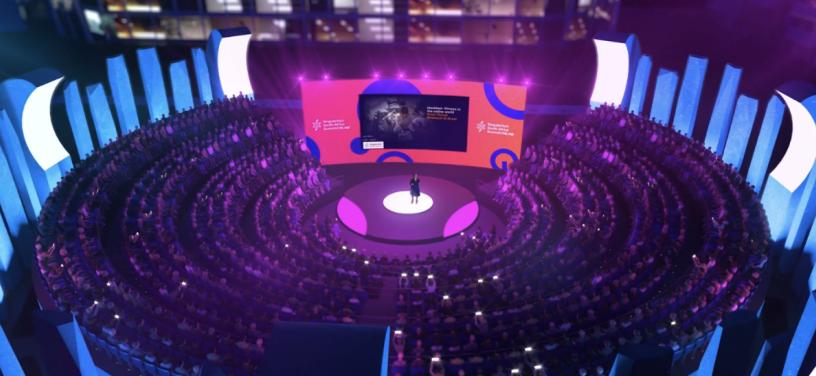 Virtual animated stage SingularityU South Africa Summit