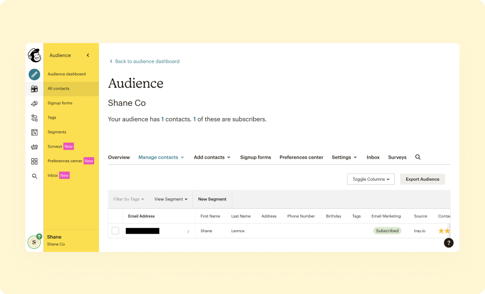 Easily add event attendees and registrations to a mailing list with our Mailchimp integration.