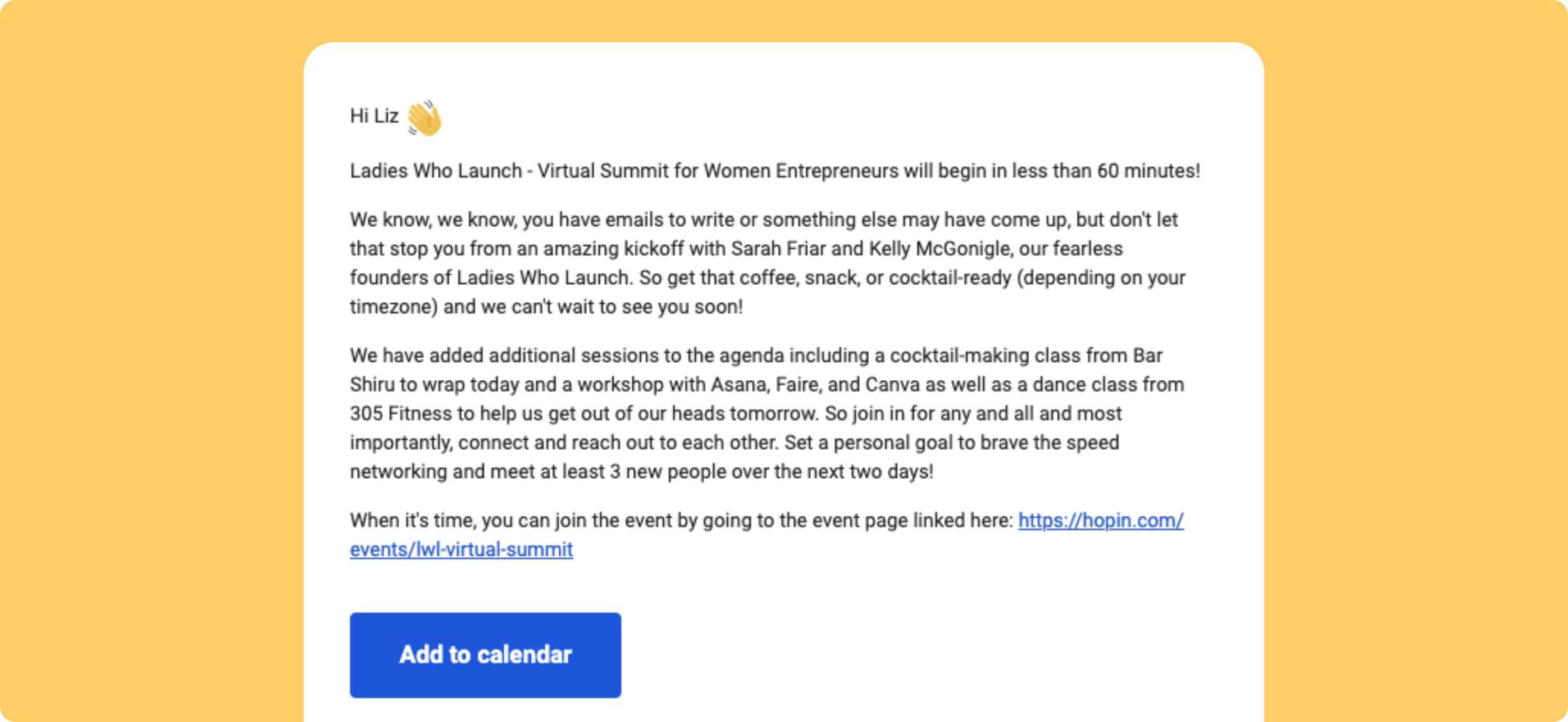 virtual event reminder email