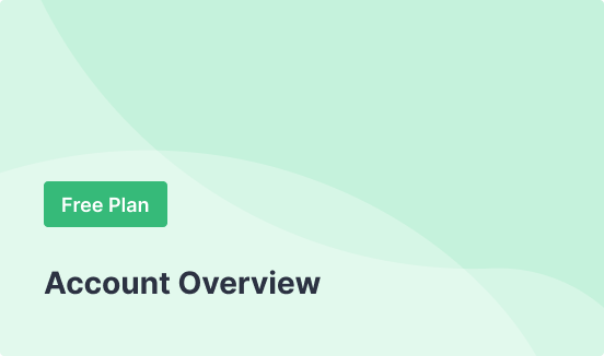 Free Plan - Account Overview