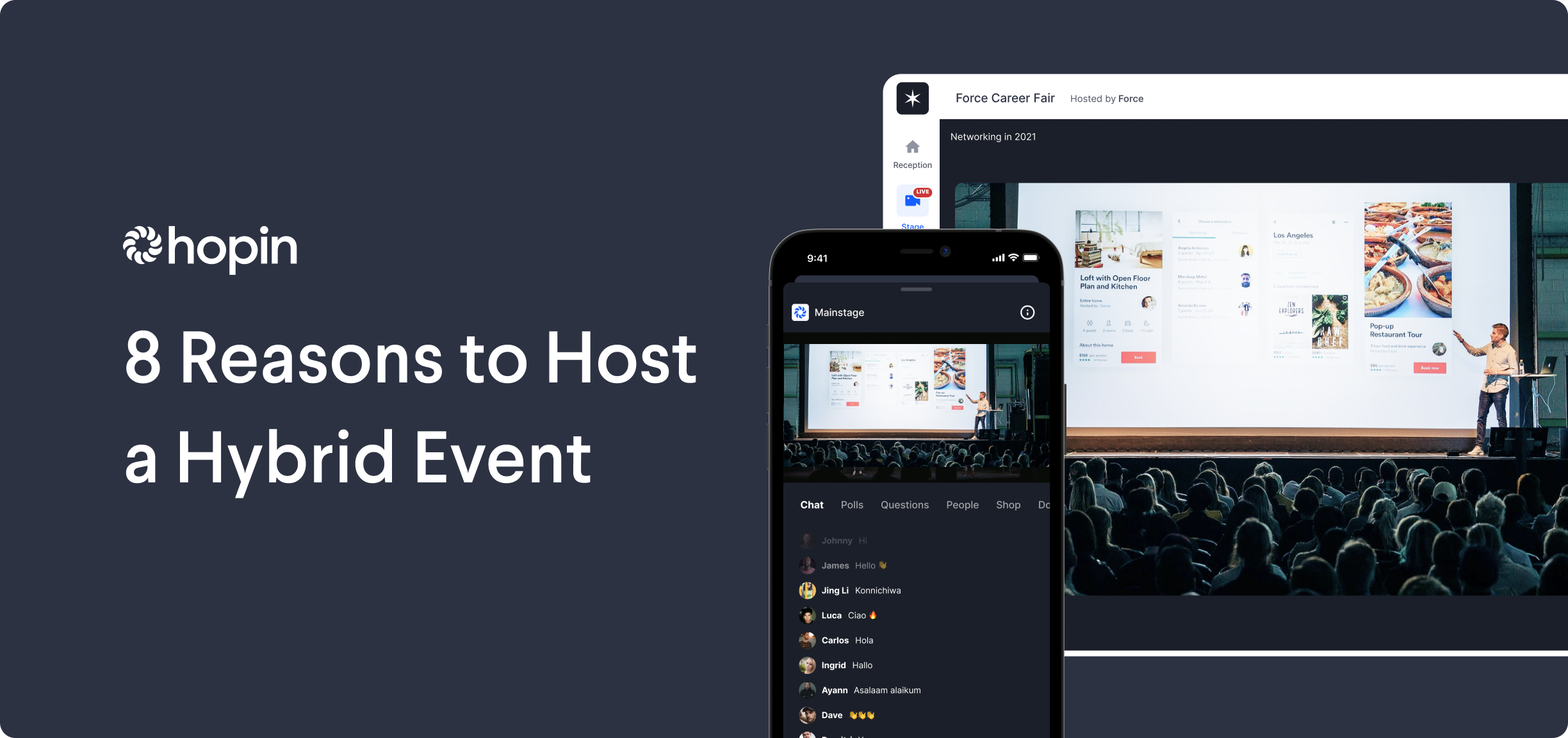 Hybrid events give you the best of both worlds: the human connection of in-person and the reach, inclusiveness, and ROI of virtual. Here are the main advantages of hybrid.