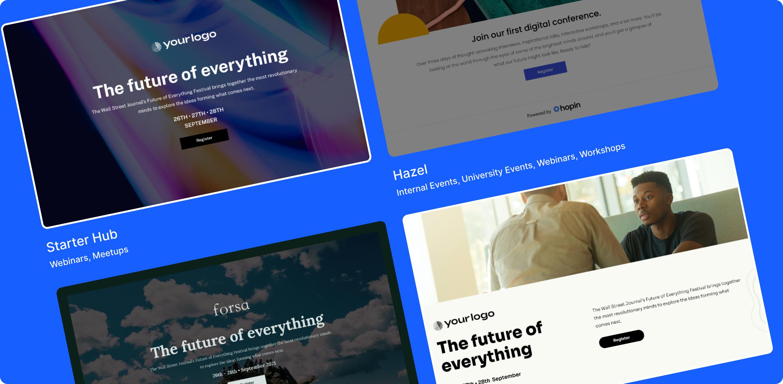 Canvas makes building beautiful, custom events websites easy