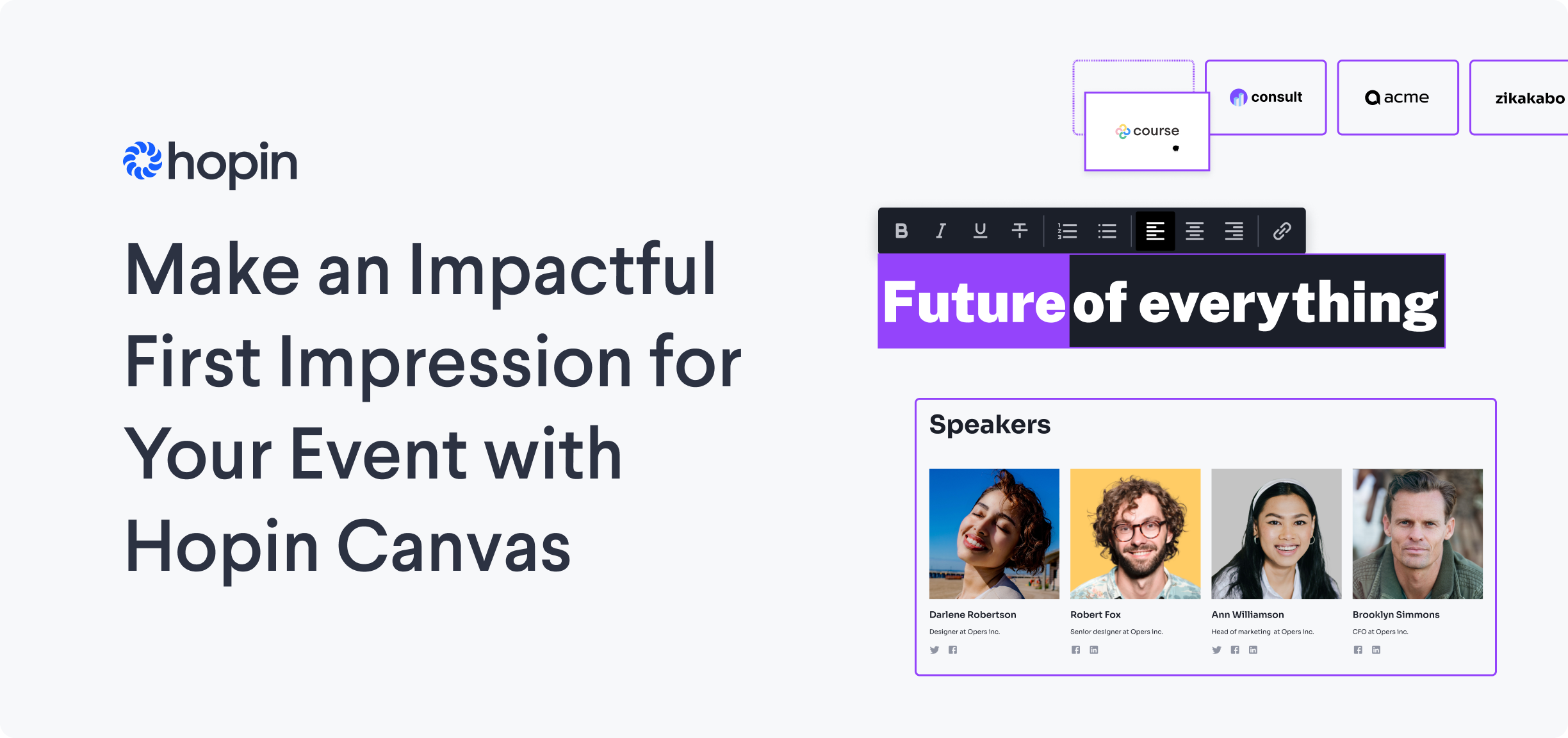 Introducing Canvas: Hopin's no-code event website builder with integrated registration