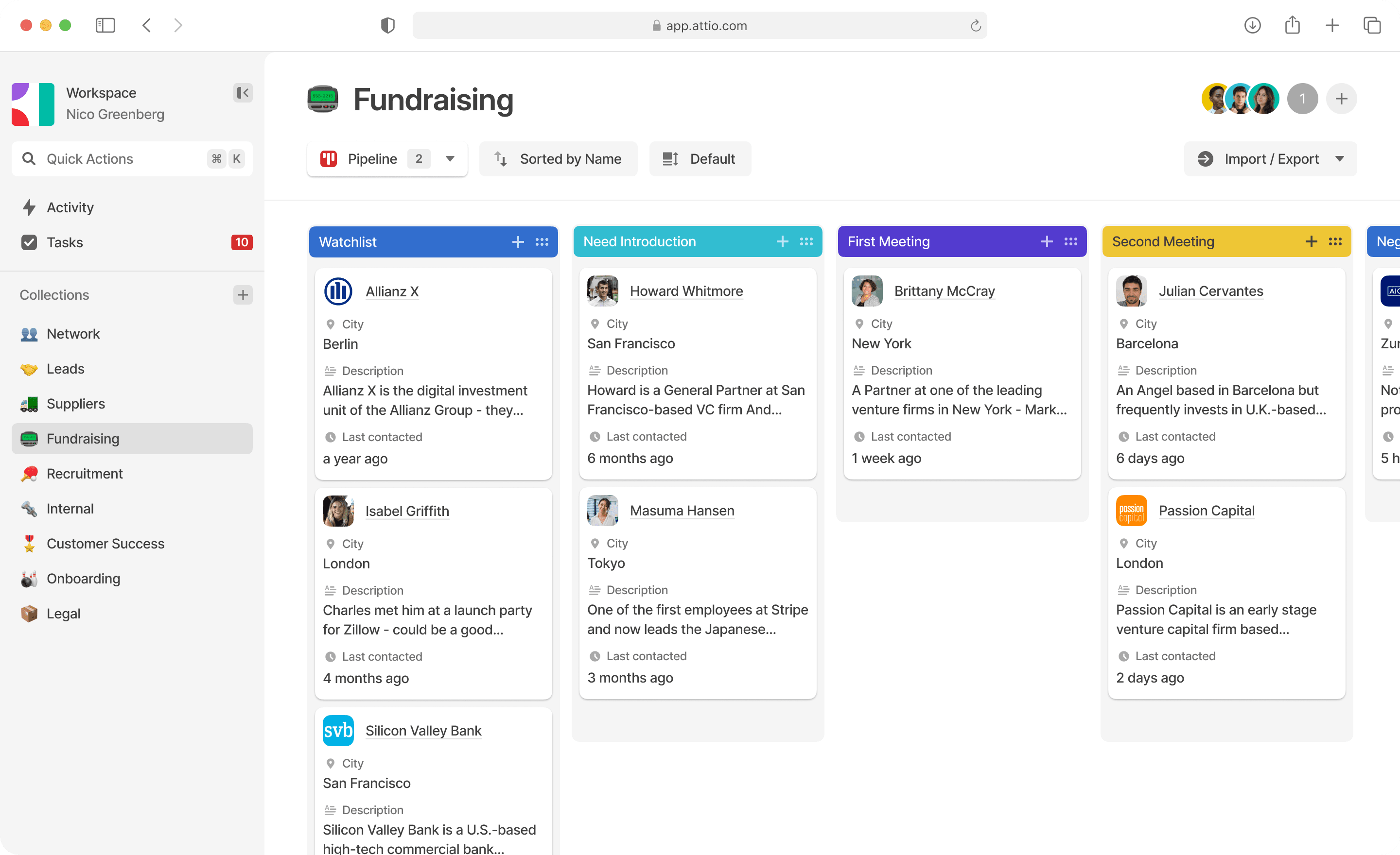 Tracking Startup leads in Attio