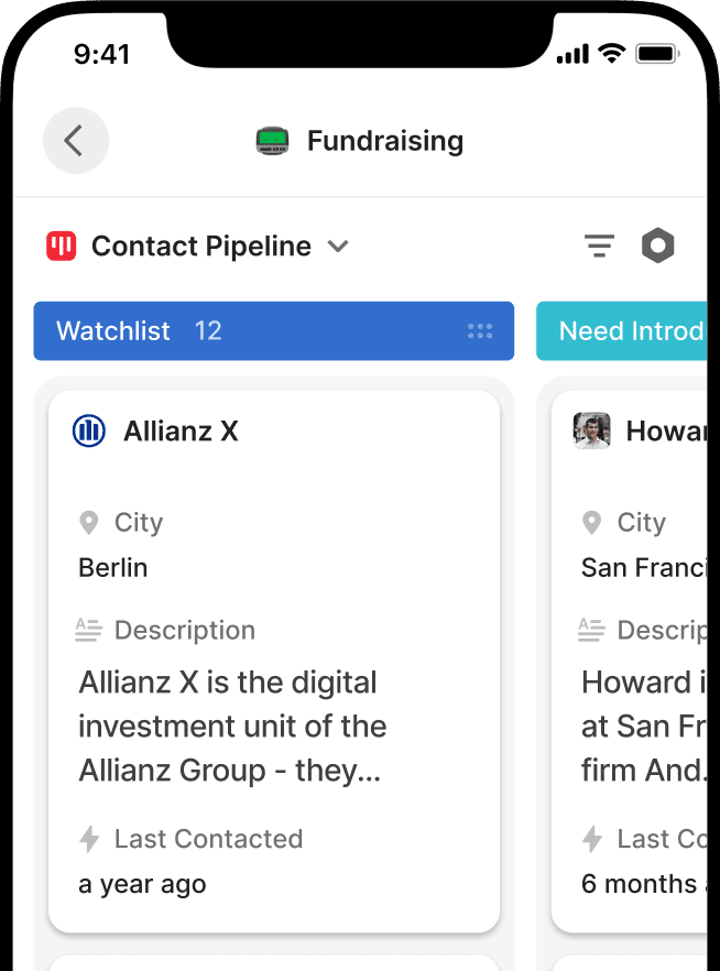 Organizing fundraising with Attio
