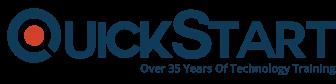 A logo of Quickstart.com