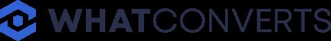 A logo of WhatConverts.com