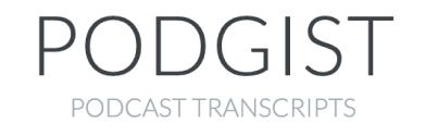 A logo for podgist