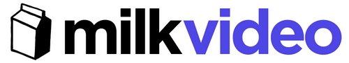 A logo for Milk.video.