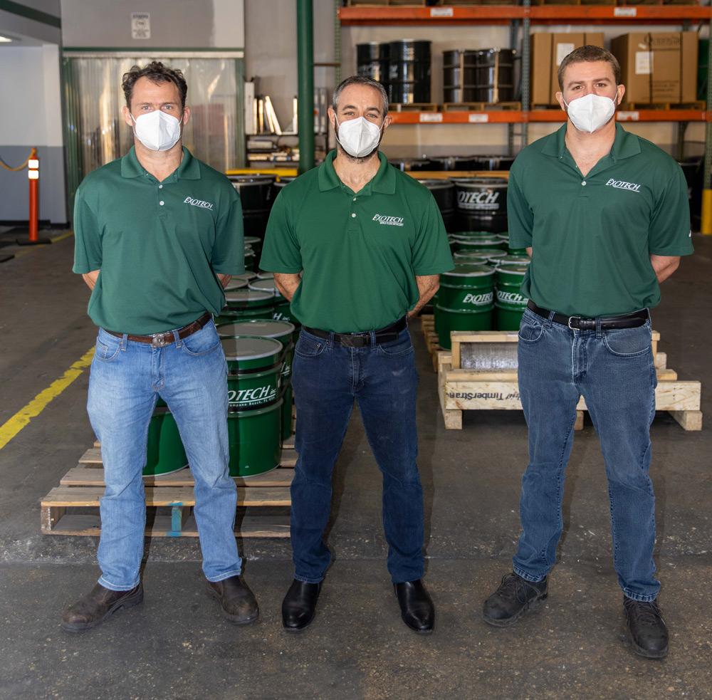 Exotech sales team