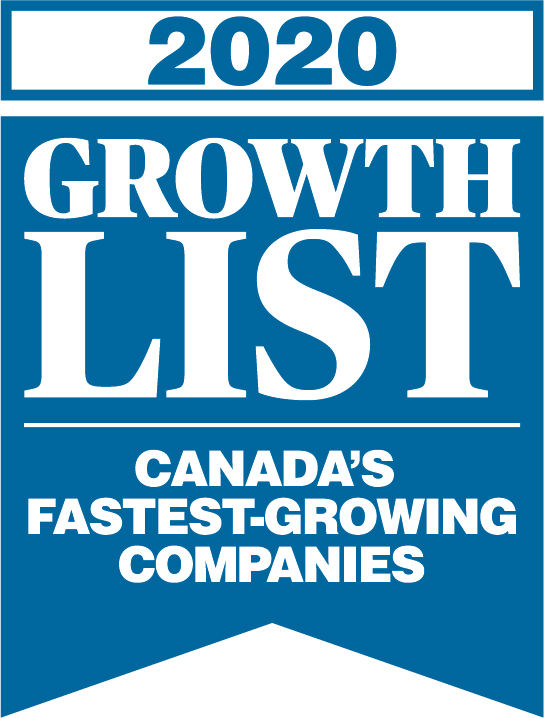 Canadian Business Magazine's 2020 Growth List for Canada's Fastest Growing Companies logo