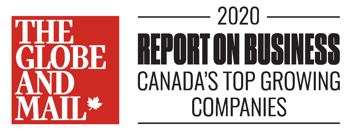 The Globe and Mail 2020 Report on Business Canada's Top Growing Companies Award
