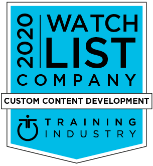 Training Industry 2020 Custom Content Development Watch List award