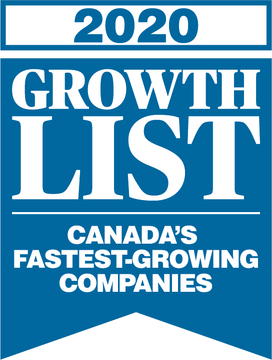 2020 Growth List Canada's Fastest-Growing Companies award