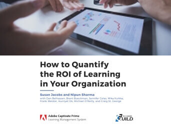 How to Quantify the ROI of Learning in Your Organization  cover page