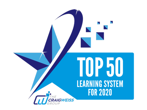Top 50 Learning System for 2020 award