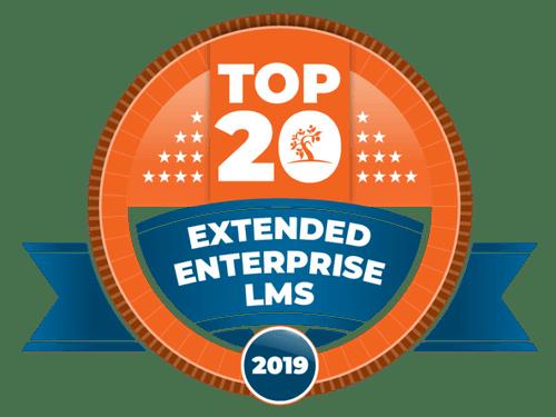 Top 20 Extended Enterprise LMS award 2019