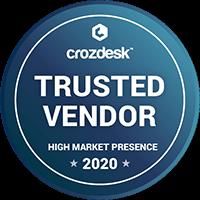 Crozdesk 2020 award: Trusted Vendor
