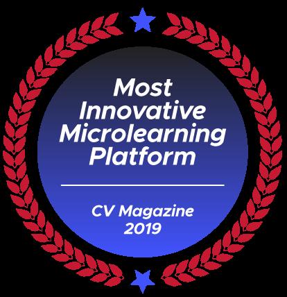 CV Magazine award 2019: Most Innovate Microlearning Platform