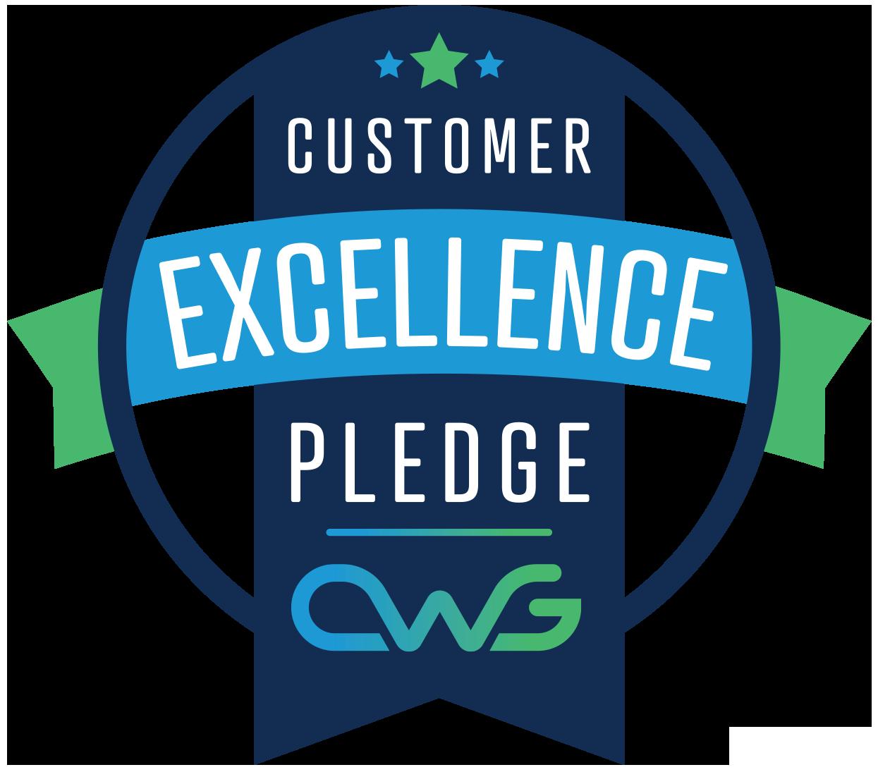Customer Excellence Pledge badge