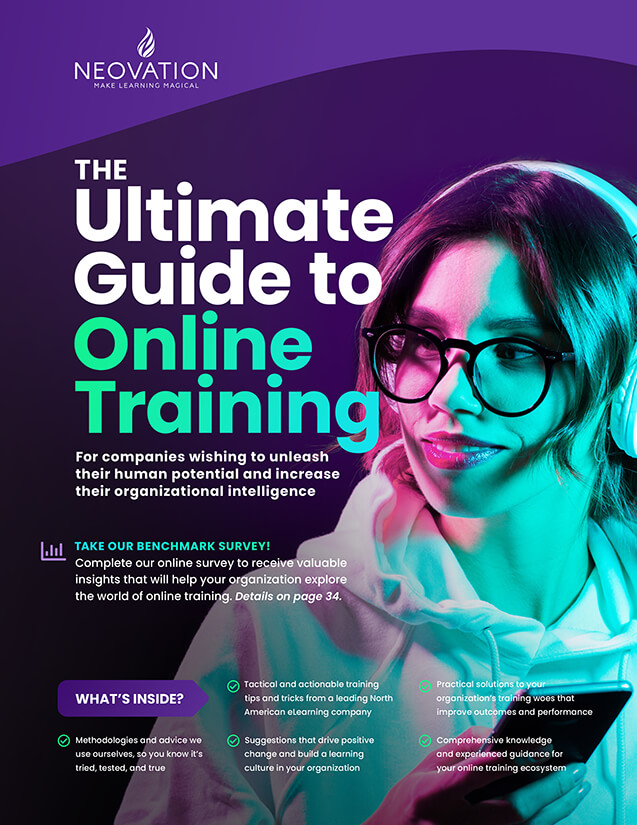Cover of The Ultimate Guide To Online Training.