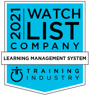 Training Industry 2021 Learning Management System Watch List award