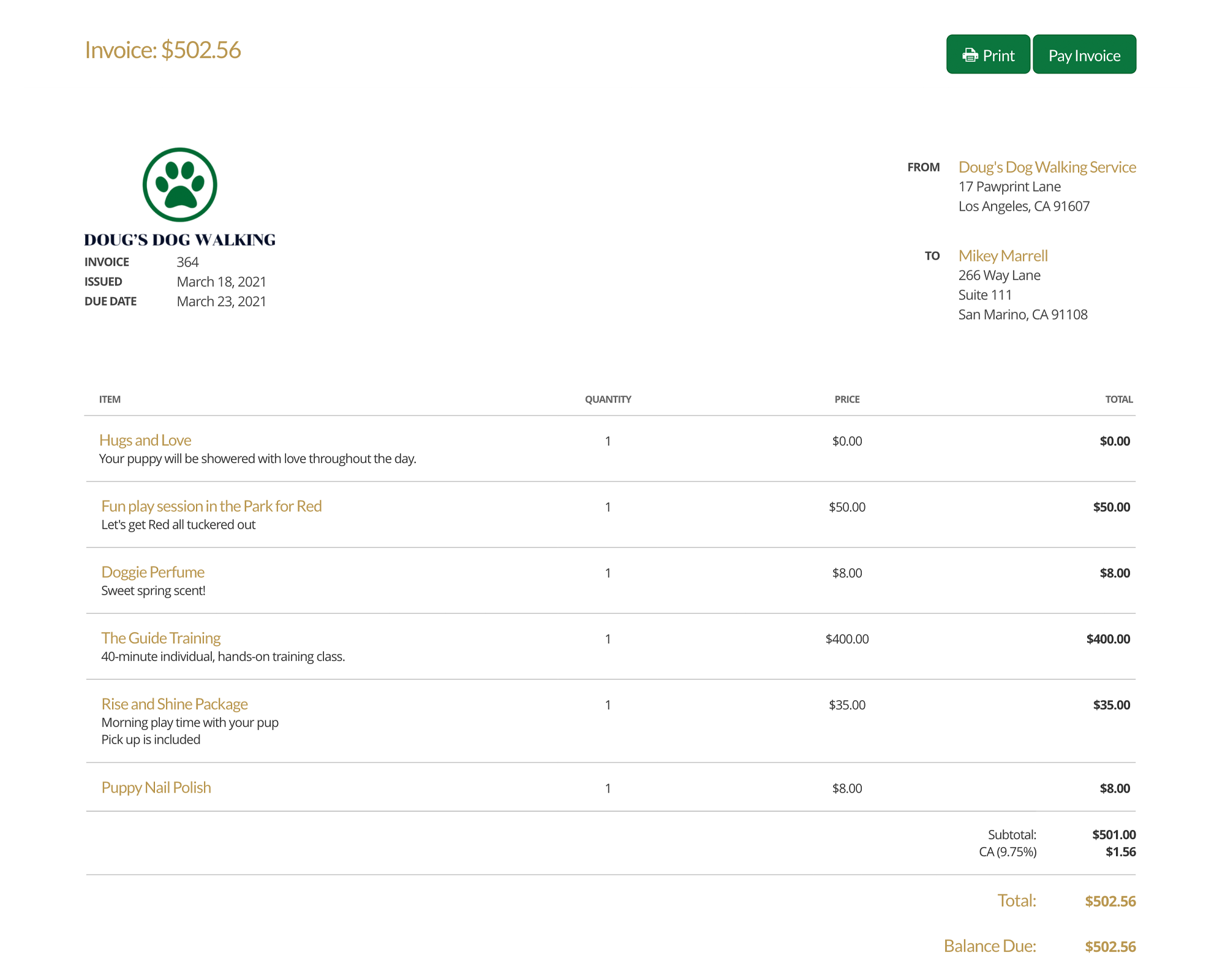 17hats Features Invoices