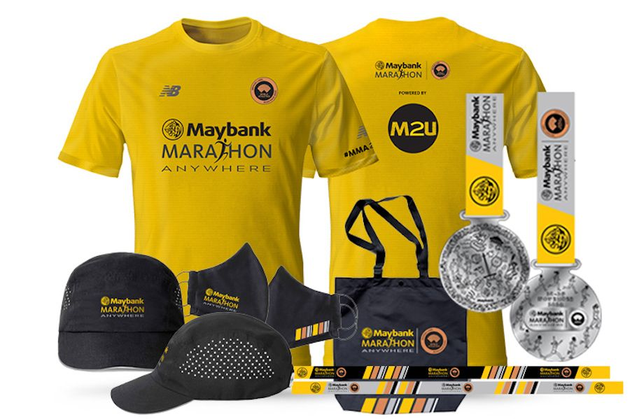 le merchandising de Maybank Marathon