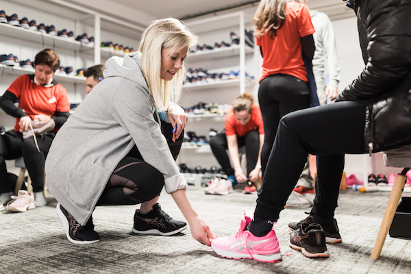 Testing de chaussures ASICS