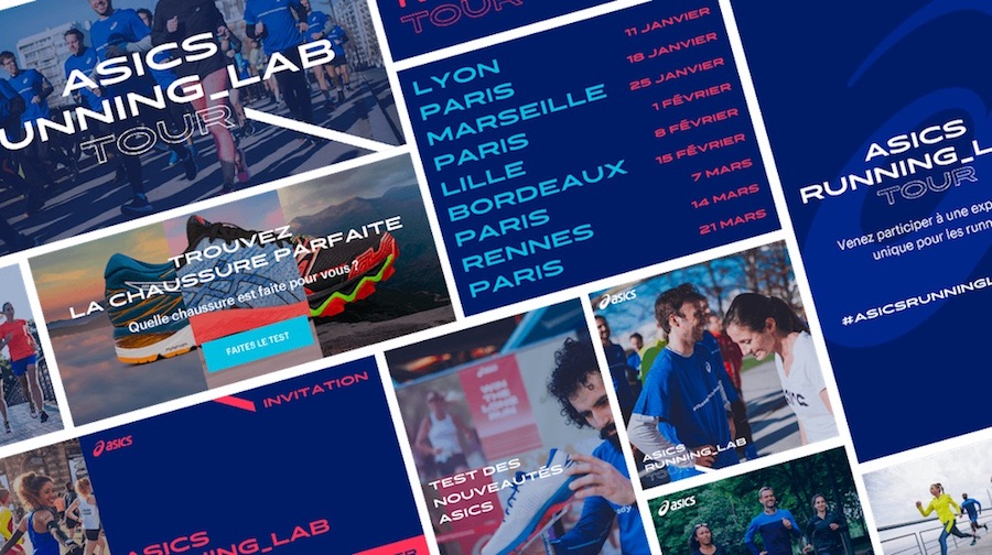 asics running lab tour website