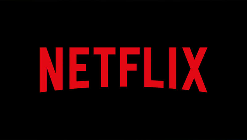 The red Netflix logo on a black background.
