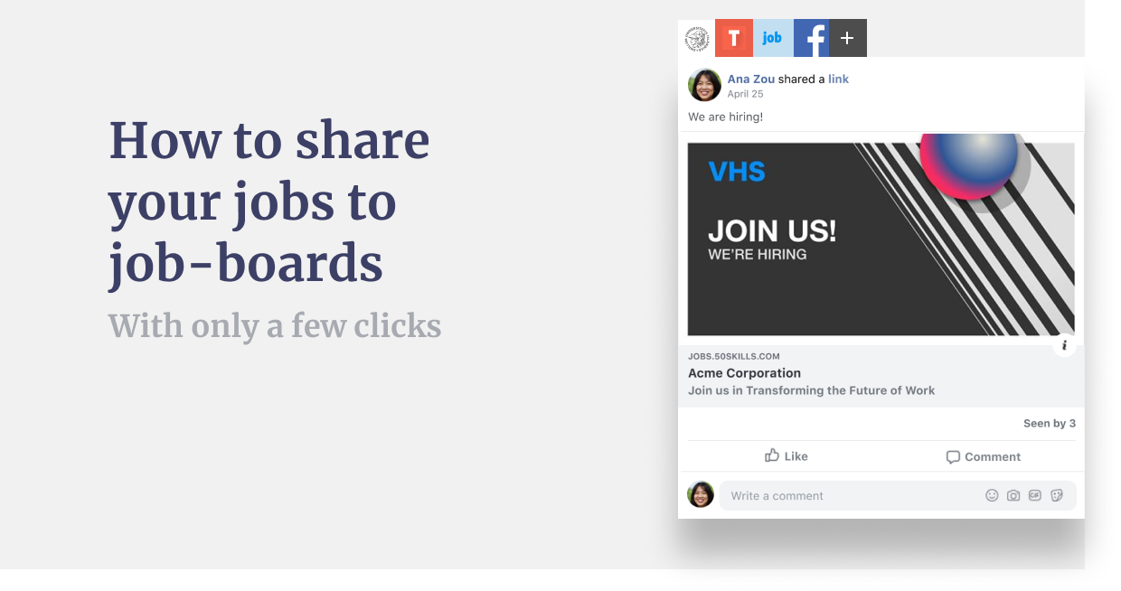 Introducing: How to share job-posts to 3rd party sites