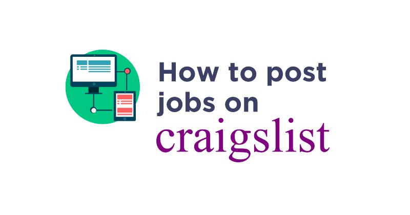 How to post jobs on Craigslist