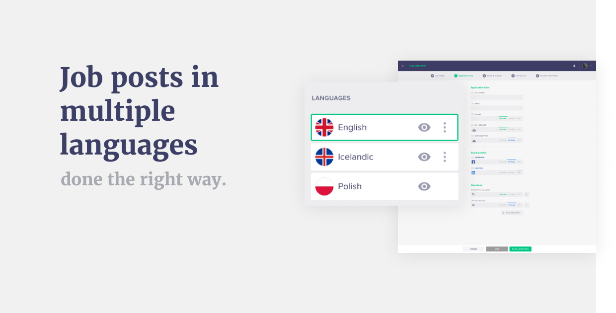Introducing: Job posts in multiple languages-done the right way