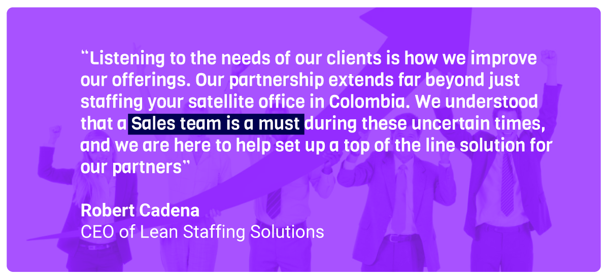 Lean Sales is The Quality Sales Solution to Grow Your Company quote by Robert Cadena