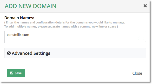 adding new domain in constellix