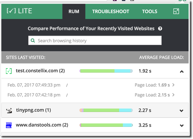 new site load times