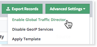Enabled Global Traffic Director in Constellix