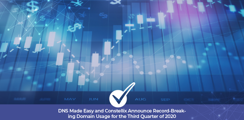 DNS Made Easy and Constellix Announce Record-Breaking Domain Usage for the Third Quarter of 2020