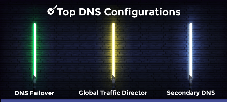 dns configurations failover, global traffic director, secondary dns