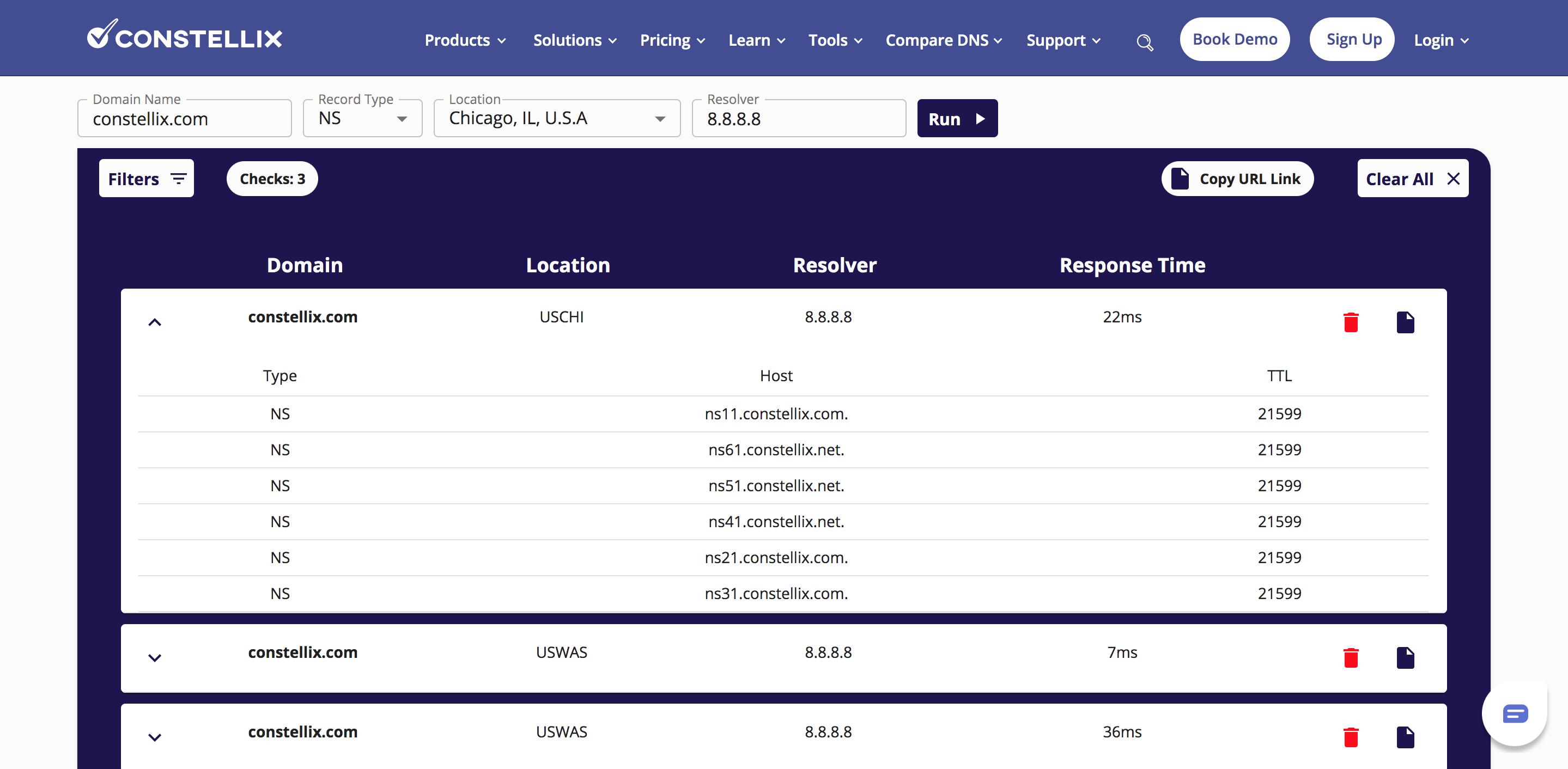 Free DNS Lookup Tool - DNS Checker