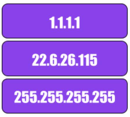 IP address example - DNS - Constellix
