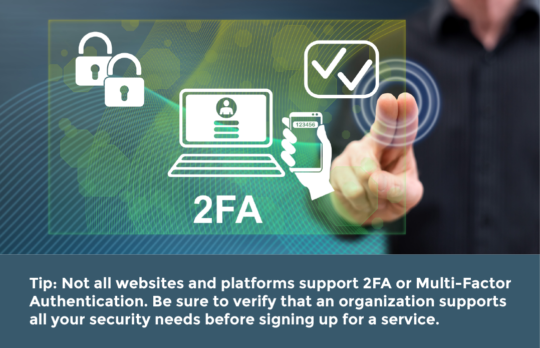 How to enable 2FA? Two factor authentication tip.