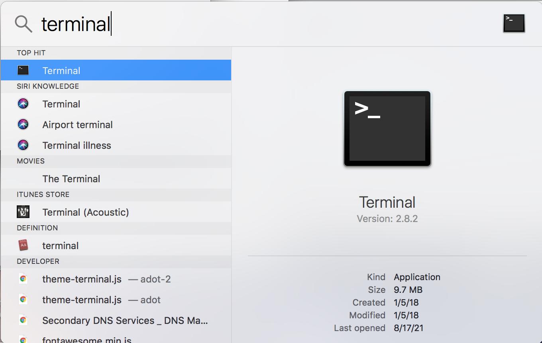 Terminal Mac Step 1
