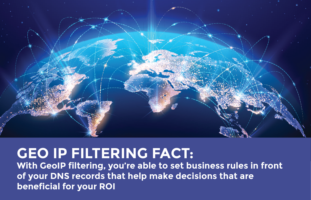 GEO IP FIltering Fact - blocking traffic and set business rules in front of your DNS records strategy
